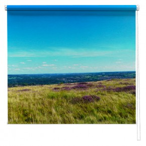 Yorkshire Moors Heather printed blind