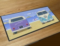 2 Camper vans bar runner counter mat