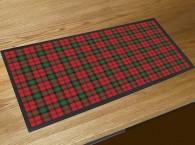 Tartan bar runner mat