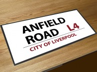 Anfield football street sign bar runner