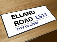 Elland road leeds football street sign bar runner