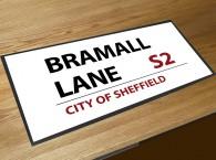 Bramall lane football street sign bar runner