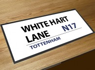 WHite Hart Lane football street sign bar runner
