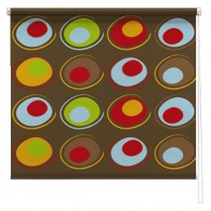 Abstract printed roller blind