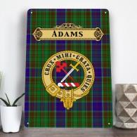 Scottish Clan, family name, tartan aluminium A4 metal sign wall art *MANY CLANS*