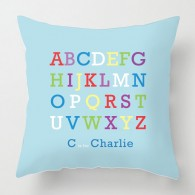 Personalised Alphabet childrens cushion
