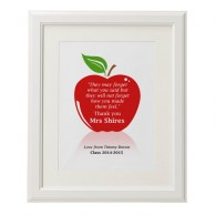 Personalised teachers thank you quote apple print