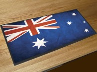 Australian Flag bar runner