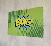 BANG comic metal sign