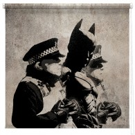 Banksy Batman and the Police  printed blind