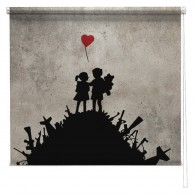 Banksy printed blind  War Children
