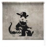 Banksy graffiti printed blind Pimp Rat