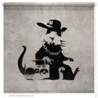 Banksy Ghetto Rat blind