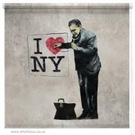 Banksy I Love NY blind