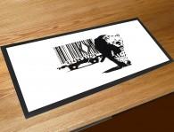 Banksy barcode leopard bar runner