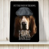 Peaky Barkers Basset hound dog Sign / Poster, Peaky Blinders funny sign