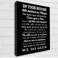 In this house We do Geek canvas print