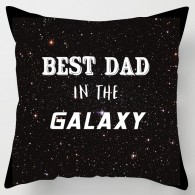 Best Dad in the Galaxy fathers day cushion