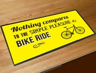 nothing compares to a bike ride bar runner