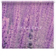 'Breathe' Lavendar printed blind