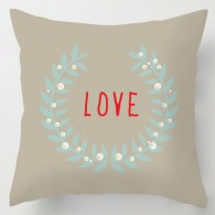 brown love cushion