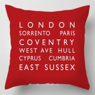 Personalised destination bus blind cushion