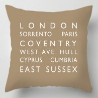 Personalised destination bus blind cushion