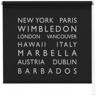 personalised bus blind printed roller blind