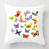 Colourful Butterflies cushion