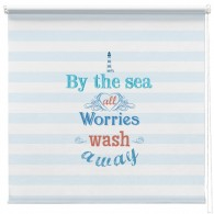 By the Sea inspirational quote printed blind
