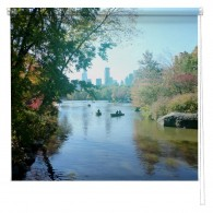 Rowing in Central Park New York printed blind