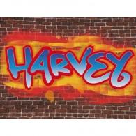 Personalised graffiti childrens canvas art
