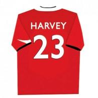 Personalised football shirt childrens canvas art