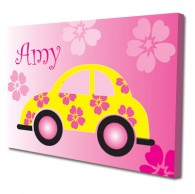Personalised car childrens canvas art