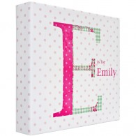 Personalised childrens name letter canvas art