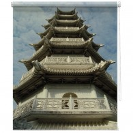 Chinese Temple printed blind