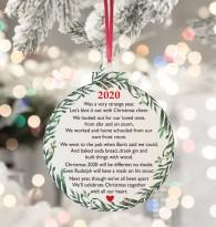 Christmas 2020 Poem Acrylic bauble hanging tree decoration