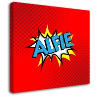 Personalised Comic childrens name canvas art