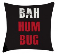 Bah humbug christmas cushion