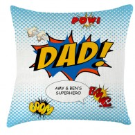Comic dad fathers day personalised cushion