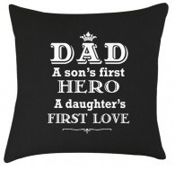 Dad hero quote cushion