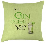 Gin O'clock cushion