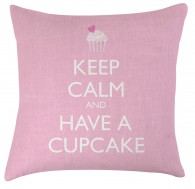 Keep calm and have a cupcake cushion