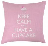 Keep calm and have a cupcake cushion