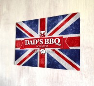 Dads BBQ Union Jack bar sign