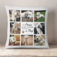 Dog Photo collage cushion