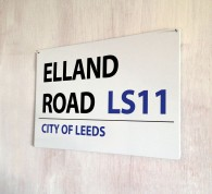 Elland Road Leed Street Sign