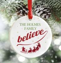 Personalised we believe, Christmas decoration