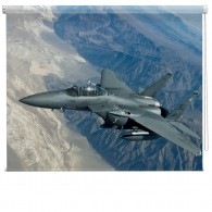 Fighter Jet aviation printed blind
