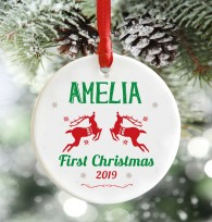 Personalised Babys First Christmas decoration